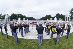 Band performing at the World War II Memorial
